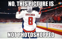 Logic, Memes, and National Hockey League (NHL): NOTHİSRİCTURE IS, t  OVECHKIN  @nhl ref logic  NOT PHOTOSHOPPED DOUBLE TAP TO CONGRATULATE THE CAPS!!