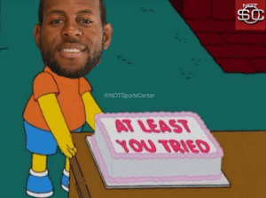Sports, The Game, and Damian Lillard: @NOTSportsCenter  AT LEAS  YOU TRIED Andre Iguodala leaves Damian Lillard a present after his attempt to tie Game 2 and the end of the game https://t.co/7ZYPurS1aN