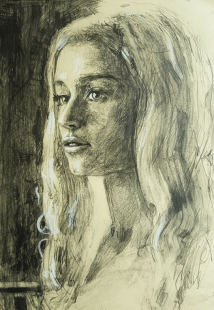 Tumblr, Queen, and Daenerys Targaryen: novelty-gift-ideas:  Daenerys Targaryen - The Dragon Queen Original Drawing