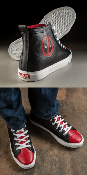 Tumblr, Deadpool, and Zoom: novelty-gift-ideas:  Deadpool High Top Sneaker