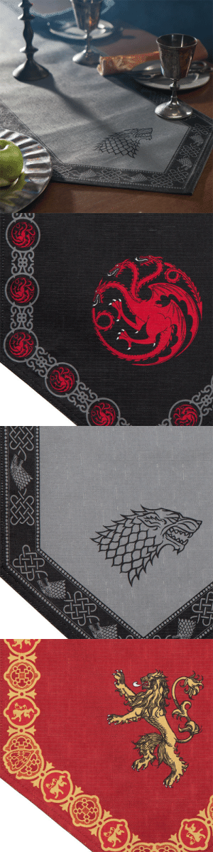 novelty-gift-ideas:  Game of Thrones Table Runners  : novelty-gift-ideas:  Game of Thrones Table Runners