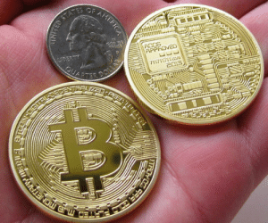 Tumblr, Blog, and Bitcoins: novelty-gift-ideas:  Gold Plated Bitcoins