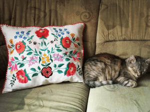 Tumblr, Blog, and Etsy: novelty-gift-ideas:Hungarian Floral Pillow