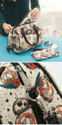 Star Wars, Tumblr, and Blog: novelty-gift-ideas:  Star Wars BB-8 Tattoo Flash Duffel Purse