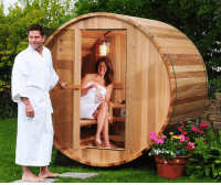 Tumblr, Blog, and Com: novelty-gift-ideas:  Two Person Canopy Barrel Sauna