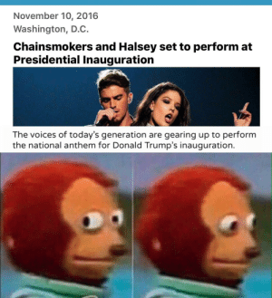benafflecksgf:  jumex:  I'm gonna have a stroke  hey guys, you can hate halsey all you want to but this article headline is FAKE.  http://www.pop-buzz.com/just-music/halsey-chainsmokers-trump-inauguration/#tMyH6VhttdJfjR5l.97 halsey is half black + bisexual and numerously told her fans not to vote for tr*mp. a tweet from her: i hope this clears things up. let's stop spreading misinformation. : November 10, 2016  Washington, D.C.  Chainsmokers and Halsey set to perform at  Presidential Inauguration  The voices of today's generation are gearing up to perform  the national anthem for Donald Trump's inauguration. benafflecksgf:  jumex:  I'm gonna have a stroke  hey guys, you can hate halsey all you want to but this article headline is FAKE.  http://www.pop-buzz.com/just-music/halsey-chainsmokers-trump-inauguration/#tMyH6VhttdJfjR5l.97 halsey is half black + bisexual and numerously told her fans not to vote for tr*mp. a tweet from her: i hope this clears things up. let's stop spreading misinformation.