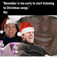 "9gag, All I Want for Christmas Is You, and Christmas: ""November is too early to start listening  to Christmas songs.  e. ""I don't know what you're talking about.""⠀ *Plays All I Want For Christmas Is You*⠀ -⠀ whoelseisready christmas 9gag"