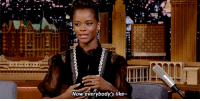 "Target, youtube.com, and Forever: Now everybody's like- <p><a href=""https://www.youtube.com/watch?v=hzb_NfYZxeI"" target=""_blank"">Letitia Wright&rsquo;s fans know that Wakanda is forever</a>.</p>"