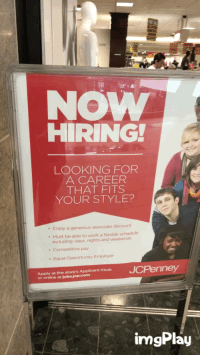 funny work and jcpenney now hiring looking for a career that fits your