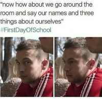 """studentlifeproblems:  If you are a student Follow @studentlifeproblems  @studentlifeproblems: now how about we go around the  room and say our names and three  things about ourselves""""  studentlifeproblems:  If you are a student Follow @studentlifeproblems  @studentlifeproblems"""