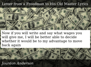 Letter From A Freedman To His Old Master.Jourdon Anderson Letter From A Freedman To His Old Master