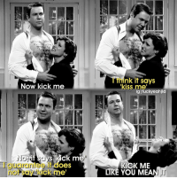Now kick me  It's  too  hat  OeS  ck me  no  inthe  hat.  ink it says  kiss mel  iglfuckyeahjld  Anth  KICK ME  LIKE YOU MEAN KICK ME LIKE YOU MEAN IT Honestly, this part made me laygh harder than it should've😂