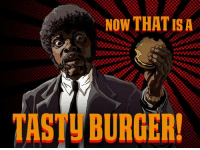 Look at the big brain on Brad: NOW THAT IS A  TASTU BURGER! Look at the big brain on Brad