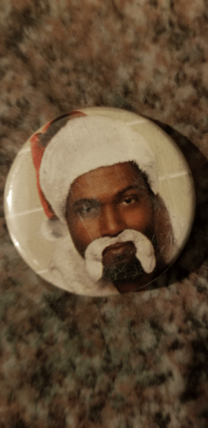 Now that its December, I thought I'd share this pin I found lying on the ground maybe 12 years ago. It is likely my favourite thing I've randomly found.: Now that its December, I thought I'd share this pin I found lying on the ground maybe 12 years ago. It is likely my favourite thing I've randomly found.