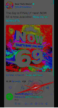 Music: Now Thats Music!  The day is FINALLY here! Now  69 is now available! Naw nkto  45K Likes