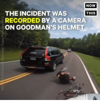 Ass, cnn.com, and Memes: NOW  THE INCIDENT WAS  RECORDED BY A CAMERA  ON GOODMAN'S HELMET  THIS  O. You could hear the driver shout Maga as he drove away 🤣 trumpsupporters deplorable hitandrun foxnews cnn msnbc politics politicalhumor womenshealth liberal republicans republicanssuck bikeride evangelical Christians baptists blm assholeitis conservatives worldstar baddrivers makeamericagreatagain alternativefacts ⭕I'd like to draw attention to the fact that all the comments posted claiming cyclist is at fault are from teenage highschool boys... Who obviously didn't read along with video 😂 Forgot that little boys know everything. News Flash, regardless of your opinion, it's illegal to hit someone with car, even if they are being an ass. That's what horns are for.
