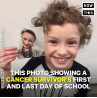 This 7-year-old girl beat cancer against all odds — now she's inspiring others (via @nowthisnews): NOW  THIS  THIS PHOTO SHOWING A  CANCER SURVIVOR's FIRS  AND LAST DAY OF SCHOOL This 7-year-old girl beat cancer against all odds — now she's inspiring others (via @nowthisnews)