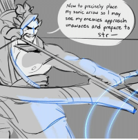 Funny, Gif, and Meme: Now to precisely place  my sonic arrow so  may  see my enemies approach  unawares and prepare to  Str I guess only the kill cam will know . . . ⚠ DM me to have your art removed ⚠ Artist: suzannart on Tumblr . . . USE CODE 'UNOFFICIALTRACER ' for 15% off 👇Spinnable Shurikens and Fidget Spinners 👇 goo.gl-zgm5xL But wait, THERE'S MORE! Need a fun distraction during those long queue timers? @Spinnables sells fun fidget spinners to help keep you busy! All orders above $50 get not only FREE SHIPPING but a FREE FIDGET SPINNER as well! Save over $20 with this limited offer at www.Spinnables.com . . . overwatch funny tracer reaper soldier76 widwmaker winston genji hanzo bastion mercy torbjorn reinhardt symmetra mccree dva lucio zenyatta pharah zarya junkrat roadhog mei blizzard gif meme sombra anaamari boop