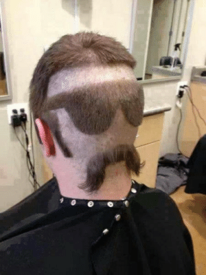 Now, what did HE say to his barber?: Now, what did HE say to his barber?
