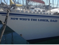 the losers: NOW WHO'S THE LOSER, DAD