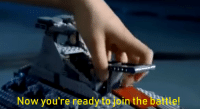 Lego, Star Wars, and Game: Now you're ready to join the battle! When you realize that the LEGO Star Wars set commercials are technically fair game