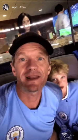 "Throwback to when Neil Patrick Harris was wearing a Manchester City shirt at a Man City game and said:   ""Go Manchester United!"" 😂😭😂 https://t.co/LFCi0xNDLn: nph 45nm Throwback to when Neil Patrick Harris was wearing a Manchester City shirt at a Man City game and said:   ""Go Manchester United!"" 😂😭😂 https://t.co/LFCi0xNDLn"