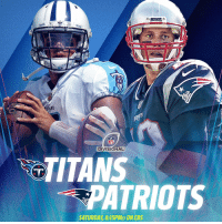 Memes, Patriotic, and 🤖: NS  DIVISIONAL  TITANS  PATRIOTS  SATURDAY, 8:15PMET ONCBS #TitanUp #GoPats  See you in the Divisional Round. #TENvsNE #NFLPlayoffs https://t.co/zSKEq5sx8V