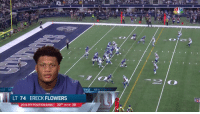 Memes, Flowers, and Back: NSE NE  ENSE NEW YOR  LT 74 ERECK FLOWERS  2016 PFF POSITION RANK 30TH OUT OF 38 Eli drops back. And Eli is sacked.  @TankLawrence breaks through! #NYGvsDAL https://t.co/FEfEzbwM6C