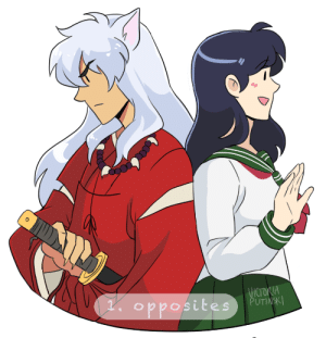 incaseyouart:  Prompt 1 of InuKag Week!! Opposites.I ALMOST FORGOT TO POST THIS FFFF@inukag-week: NSK incaseyouart:  Prompt 1 of InuKag Week!! Opposites.I ALMOST FORGOT TO POST THIS FFFF@inukag-week