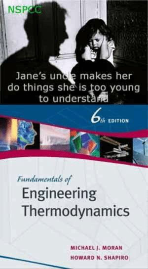 Michael, Engineering, and Thermodynamics: NSPCC  Jane's unde makes her  do things she is too young  to understa  th EDITION  Fundamentals of  Engineering  Thermodynamics  MICHAEL I. MORAN  HOWARD N. SHAPIRO