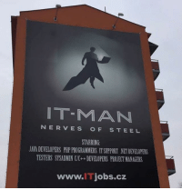 Memes, 🤖, and Ip Man: NT-MM ANI  NERVES  O F  S T E E L  STARRING  JATADEVELOPERS PHPPROGRAMMERS ITsuPPORT NETDEME0PERS  TESTERS SYSADMIN CIC++DEVELOPERS PRONECTMANAGERS  www.l jobs.cz IP Man: Rise of VPN. Follow @9gag @9gagmobile 9gag relatable itjob itcrowd ipman