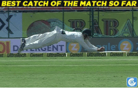 Peter Handscomb takes a brilliant catch to dismiss Cheteshwar Pujara.: nt UltraTech Cement LutraTecht Cement UltraTech SO FAR  Cement Ulira  BEST CATCH OF THE MATCH Peter Handscomb takes a brilliant catch to dismiss Cheteshwar Pujara.
