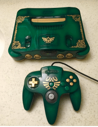 Nintendo, Time, and Zelda: NTENDO64 Custom Painted Green Zelda Ocarina of Time Nintendo 64 Set https://t.co/1O6JrS5AoT