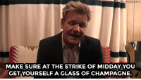 """Gordon Ramsay, Target, and Thanksgiving: NTO  NIGHT  MAKE SURE AT THE STRIKE OF MIDDAY YOU  GET YOURSELF A GLASS OF CHAMPAGNE. <p><a class=""""tumblr_blog"""" href=""""http://gattogrigio925.tumblr.com/post/133853372911"""" target=""""_blank"""">gattogrigio925</a>:</p> <blockquote> <p><a class=""""tumblr_blog"""" href=""""http://fallontonight.tumblr.com/post/133820231612"""" target=""""_blank"""">fallontonight</a>:</p> <blockquote> <p></p> <h2> <b>WEB EXCLUSIVE: </b><a href=""""https://www.youtube.com/watch?v=Q1kc9FHHUhk"""" target=""""_blank"""">Gordon Ramsay gives 5 tips to help you have an extremely successful Thanksgiving!</a> </h2> </blockquote> <p>Wise man!</p> </blockquote>  <h2><b>Listen to the man! Happy Thanksgiving, pals!</b></h2>"""
