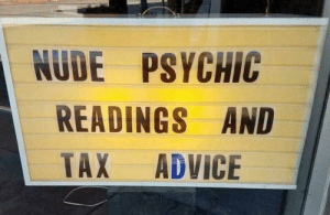 anyth1ng-but-average: Sounds like a solid time : NUDE PSYCHIC  READINGS AND  TAX ADVICE anyth1ng-but-average: Sounds like a solid time