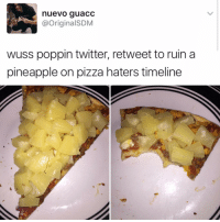 "She was looking kind of dumb with her finger and her thumb. In the shape of an ""L"" on her forehead: nuevo guacc  @Original SDM  wuss poppin twitter, retweet to ruin a  pineapple on pizza haters timeline She was looking kind of dumb with her finger and her thumb. In the shape of an ""L"" on her forehead"