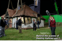 qotd : would you like it if i started posting Behind The Scenes also? My main post will still be facts but i'll post a BTS sometimes :): nugglefacts  Behind the scenes of  Deathly Hallows part 1. qotd : would you like it if i started posting Behind The Scenes also? My main post will still be facts but i'll post a BTS sometimes :)