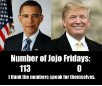 Wow. So true.: Number of Jojo Fridays:  113  I think the numbersspeak forthemselves. Wow. So true.