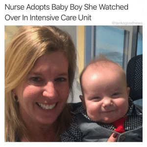 The look on the kiddos face says it all: Nurse Adopts Baby Boy She Watched  Over In Intensive Care Unit  @tanksgoodnews The look on the kiddos face says it all