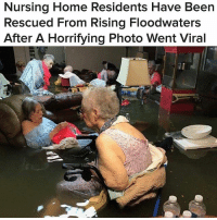 At least 15 senior citizens were rescued via helicopter from La Vita Bella, a nursing home in Dickinson, Texas, according to the Galveston County Daily News. (📷: Timothy J. McIntosh) via @buzzfeednews @pmwhiphop texas Harvey: Nursing Home Residents Have Been  Rescued From Rising Floodwaters  After A Horrifying Photo Went Viral  iI At least 15 senior citizens were rescued via helicopter from La Vita Bella, a nursing home in Dickinson, Texas, according to the Galveston County Daily News. (📷: Timothy J. McIntosh) via @buzzfeednews @pmwhiphop texas Harvey