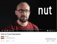 Vsauce : nut  4)  5:03 / 12:11  How to Cure Depression  Vsauce E  999,999,999 views  + Add to  lé 104,610  Share  More  2,021