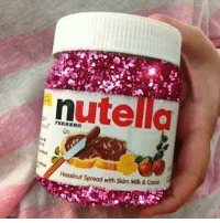 I would eat this daily: nute  Hazelnut spread with skim Mik & I would eat this daily