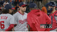 Baseball, Mlb, and Asks: NUTM  masn  2OUT  8 Max Scherzer's reaction when Dusty asks if he should stay in to face Machado😂😂 credit: efitz11 on -r-baseball