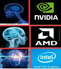 nVIDIA  AMID  intel  Intel HD Graphics