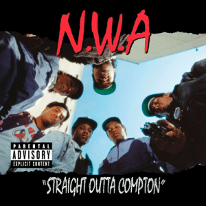 "N.W.A., Parental Advisory, and Straight Outta: NW.A  PARENTAL  ADVISORY  EXPLICIT CONTENT  STRAICHT OUTA COPTON"" todayinhiphophistory:  Today in Hip Hop History:N.W.A. released their debut album Straight Outta Compton August 8, 1988"