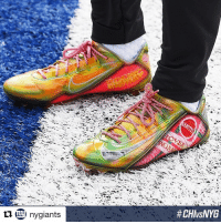 Back to the Future, Sports, and Giant: ny giants  @obj is going Back to the Future this week with his latest cleats (via @nygiants)