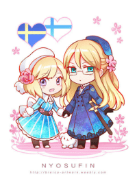 Target, Tumblr, and Blog: NY OS UF I N  http:l/breica artwork weebly.com breica-artwork:  Chibi nyo sufin~✿♦prints