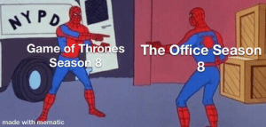 Game of Manager: NY PD  Game of Thrones  Season 8  The Office Season  8.  made with mematic Game of Manager