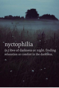 Dank, 🤖, and Comforter: nyctophilia  (n) love of darkness or night. finding  relaxation or comfort in the darkness.