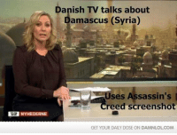 damascus: NYHEDERNE  Danish TV talks about  Damascus (Syria)  ses Assassin's  Creed screenshot  GET YOUR DAILY DOSE ON DAMNLOLCOM